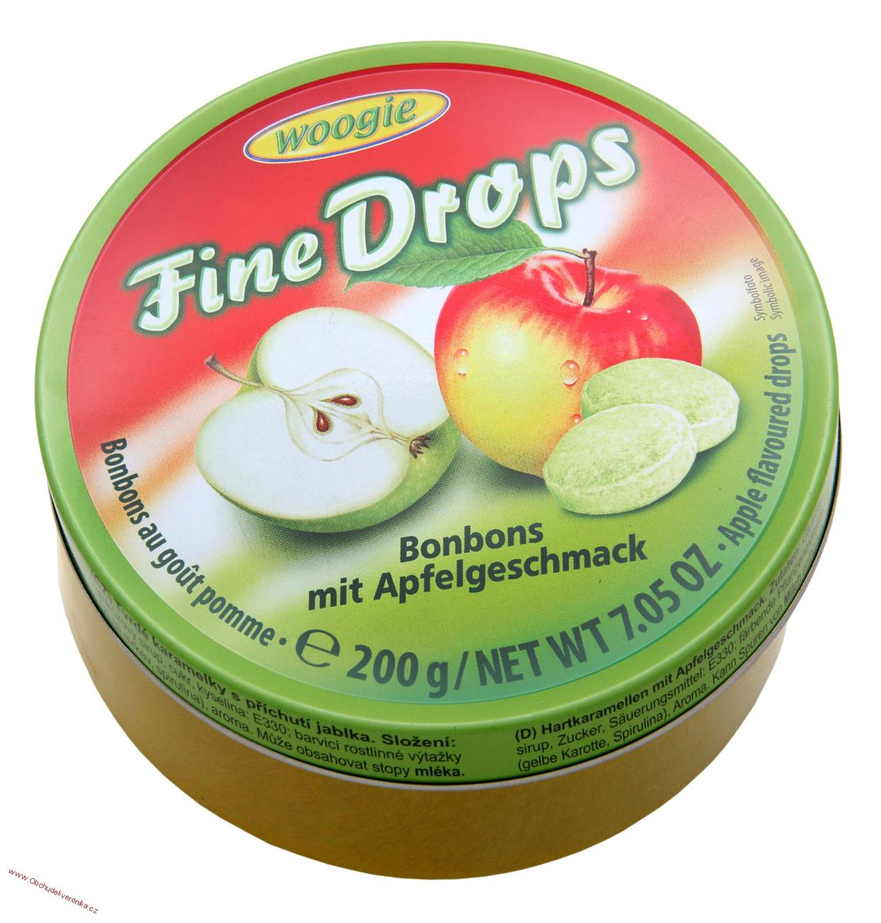 Woogie Fine Drops Apple bonbons 200g
