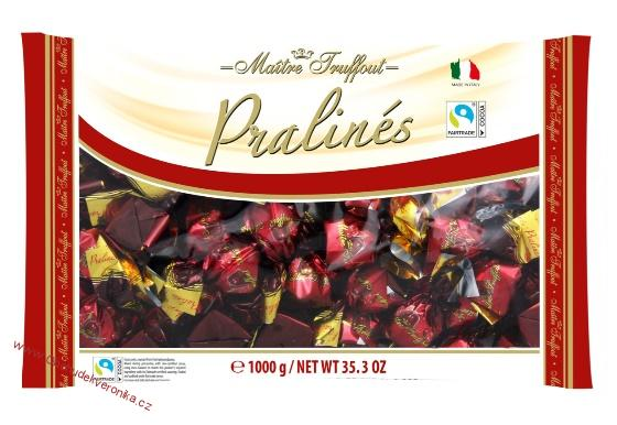 Maitre Truffout Pralines dark chocolate with cherry with liqueur 4% vol. 1kg