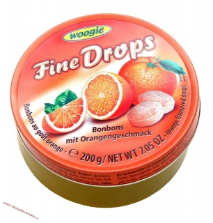 Woogie Fine drops Orange bonbons  200g