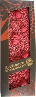 Exclusive chocolate mléčná s malinami 120g