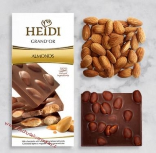 Heidi Grand´Or Dark & Almonds 100g