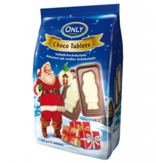 Only Santa choco tablets 150g