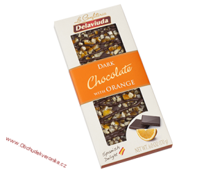 Delaviuda Dark Chocolate with Orange 170 g