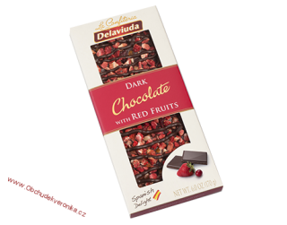 Delaviuda Dark Chocolate with Red Fruits 170 g