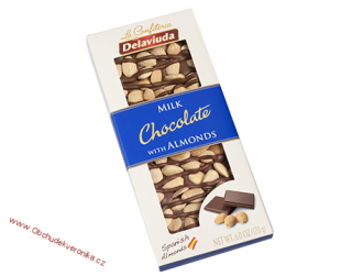 Delaviuda Milk Chocolate with Almonds 170 g