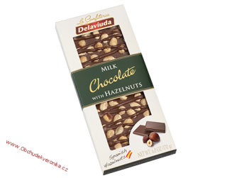 Delaviuda Milk Chocolate with Hazelnuts 170 g